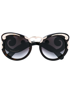rounded cat eye sunglasses Prada Eyewear