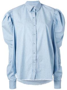 puff sleeve chambray shirt Marquesalmeida