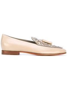 decorative tassel loafers Santoni