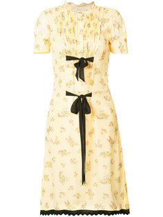printed ribbon tie dress Coach
