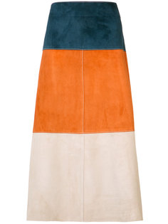stripe panel skirt Derek Lam