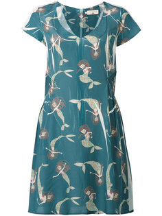 mermaid print dress Cotélac
