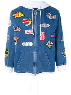 patch embellished denim hoodie Gcds