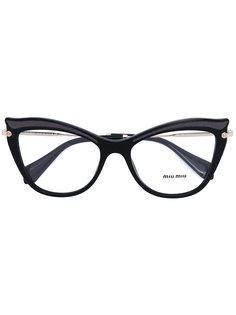 cat eye glasses Miu Miu Eyewear