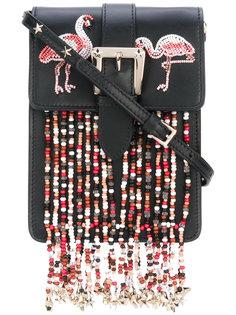 сумка через плечо с фламинго из бисера Red Valentino