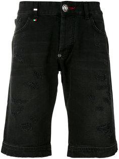 джинсовые шорты с необработанными краями Philipp Plein