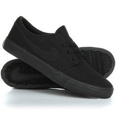 Кеды кроссовки низкие Nike Sb Portmore II Solar Cnvs Black