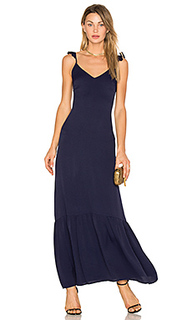 Макси платье с рюшами vella - Line & Dot