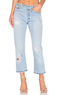 Укороченные прямые джинсы с высокой талией levis - RE/DONE