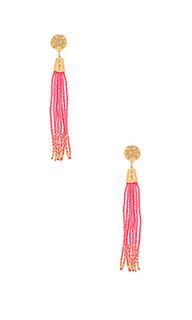 Salina beaded tassel earrings - gorjana