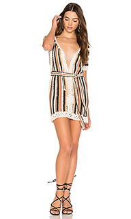Bardot short dress with sash - Cleobella