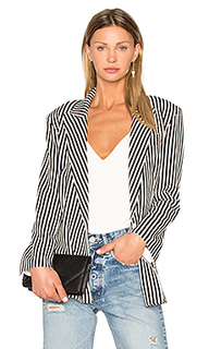 Vertical stripe double breasted jacket - Norma Kamali
