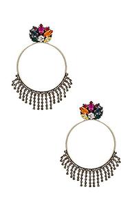 Crystal cluster hoop earring - Anton Heunis