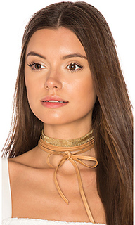 Mesh leather wrap choker - joolz by Martha Calvo
