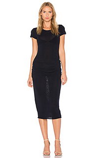 Shirred cap sleeve dress - James Perse