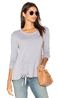 Drawstring tie front sweatshirt - Wilt
