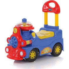Каталка Train, синяя, Baby Care