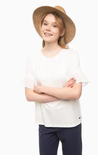 Белая трикотажная футболка Pennyblack