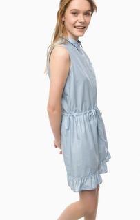Хлопковое платье с отложным воротничком Pennyblack