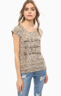 Хлопковая футболка с камуфляжным принтом Lerros