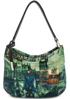 Кожаная сумка с со съемным плечевым ремнем Curanni