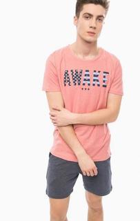 Хлопковая футболка с контрастным принтом Tom Tailor Denim