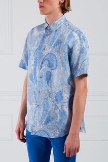 Рубашка из хлопка и льна Brioni
