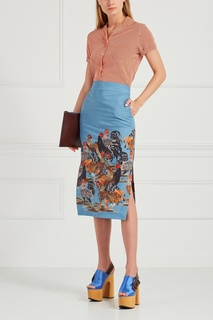 Хлопковая юбка-карандаш Lamentosa Stella Jean