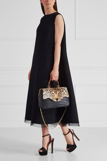 Кожаная сумка Leopard Gucci
