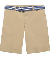 Хлопковые шорты с ремнем в полоску Polo Ralph Lauren