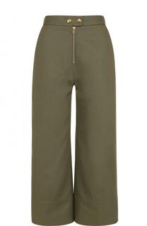 Укороченные расклешенные брюки с завышенной талией T by Alexander Wang