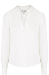 Шелковая блуза с V-образным вырезом Diane Von Furstenberg