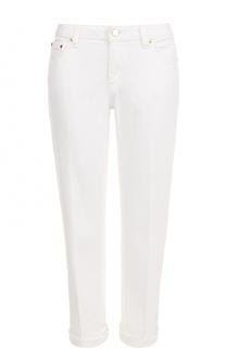 Укороченные джинсы со стрелками и отворотами MICHAEL Michael Kors