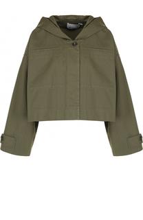 Укороченная куртка свободного кроя с капюшоном T by Alexander Wang