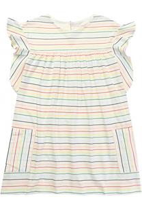 Платье свободного кроя в контрастную полоску Chloé