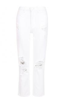 Укороченные джинсы с потертостями Denim X Alexander Wang