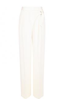 Шелковые брюки со стрелками и поясом T by Alexander Wang