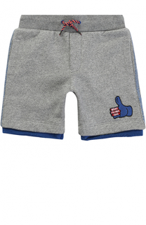 Хлопковые шорты с нашивкой с контрастной отделкой Marc Jacobs