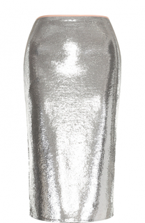 Юбка-карандаш с пайетками и разрезом Diane Von Furstenberg