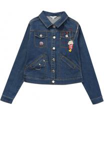 Куртка из денима с нашивками и декором Marc Jacobs
