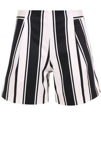 Хлопковые мини-шорты в контрастную полоску Blugirl