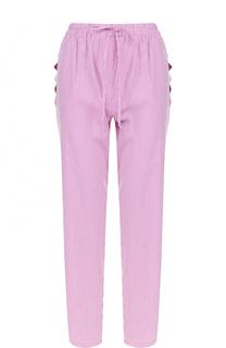 Укороченные брюки в полоску с эластичным поясом Blugirl