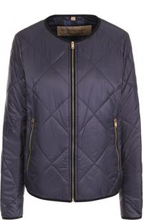 Стеганая куртка на молнии с круглым вырезом Burberry