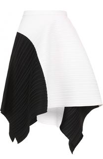 Плиссированная мини-юбка асимметричного кроя Proenza Schouler