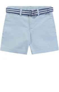 Хлопковые шорты с контрастным поясом Polo Ralph Lauren