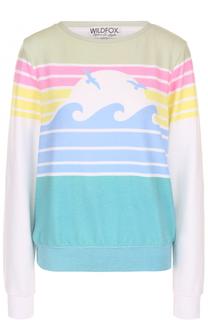 Пуловер прямого кроя с принтом Wildfox