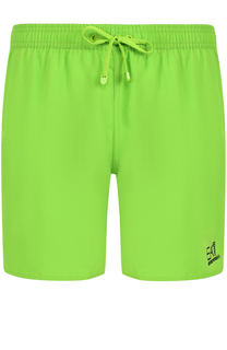Плавки-шорты с логотипом бренда Emporio Armani