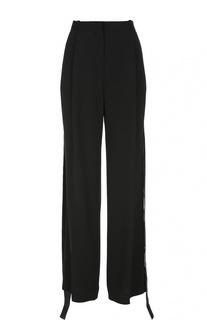 Широкие брюки с завышенной талией и лентами Givenchy