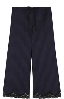 Укороченные брюки с кружевной отделкой и эластичным поясом Alexander Wang