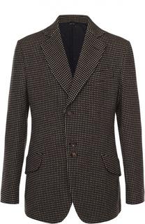 Шерстяной однобортный пиджак с узором Vivienne Westwood